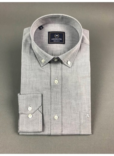 Abbate Oxford Düğmelı Yaka Regular Fıt Ceplı Casual Gömlek Lacivert